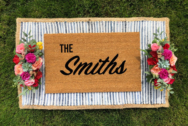 Personalized Last Name Doormat