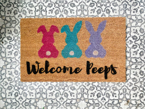 Welcome Peeps- Spring Doormat