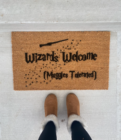 Harry Potter- Muggles Welcome Inspired Doormat