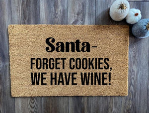 Santa- Forget Cookies, We Have Wine!