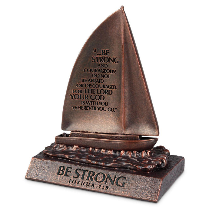 Be Strong Bronze Desktop Sailboat