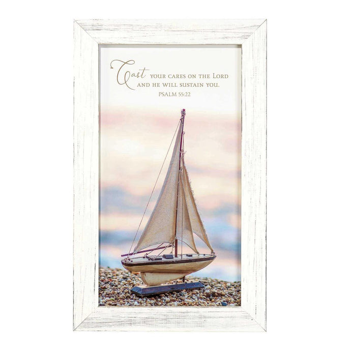 Cast Your Cares Sailboat Wall Art