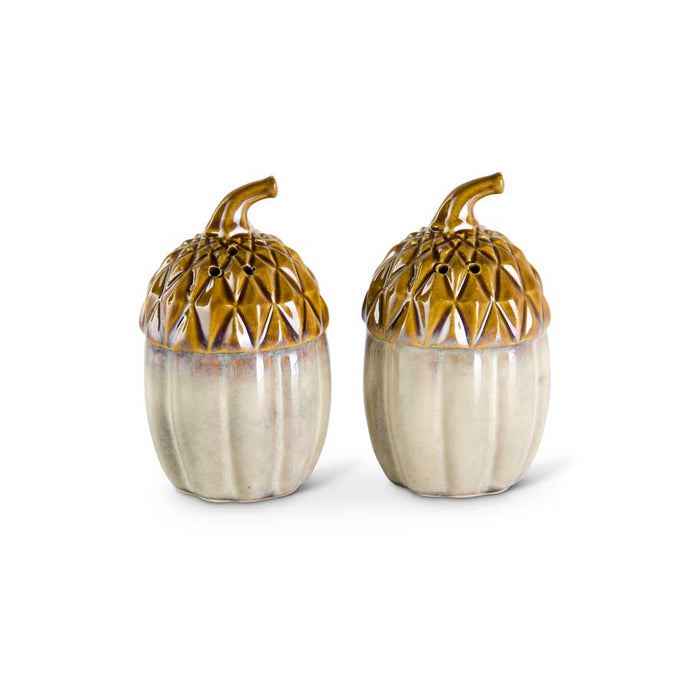 Ceramic Acorn Salt and Pepper Shaker