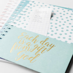Each Day Is a Gift from God - Agenda Planner Pocket Inserts, Set of 4