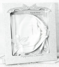 Load image into Gallery viewer, Christening Bonnet/Handkerchief with Straight Hem, White