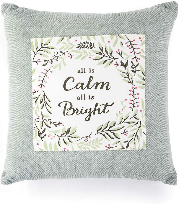 All is Calm Floral Sage Green Pillow