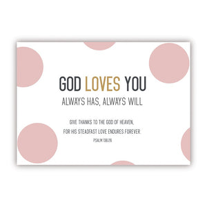 Postcard - God Loves You