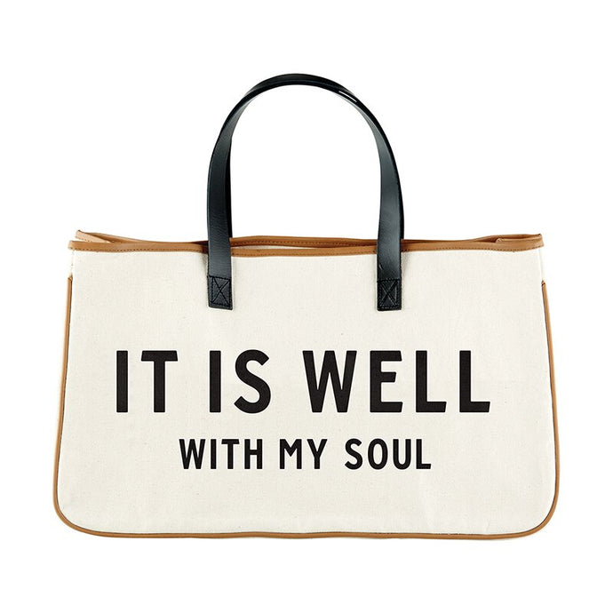 Large Canvas Tote - It is Well