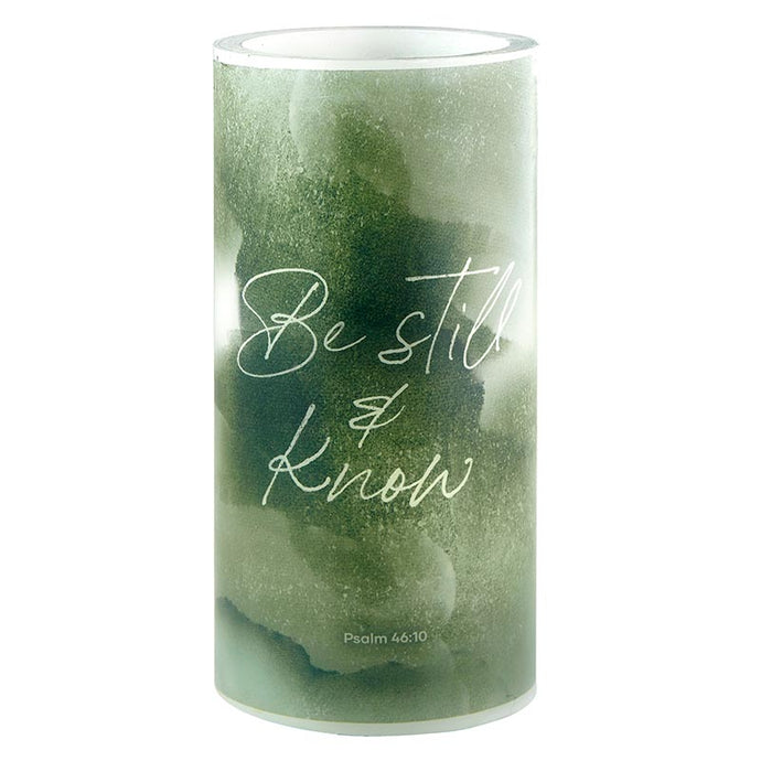 LED Candle - Medium - Inspirational - Be Still & Know