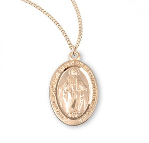 Miraculous Medal Gold Over Sterling Silver