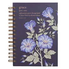 Load image into Gallery viewer, Grace Large Wirebound Journal in Eggplant - Romans 2:33