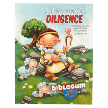 Load image into Gallery viewer, Fun Bible Lessons on Diligence from the bibleGum Series
