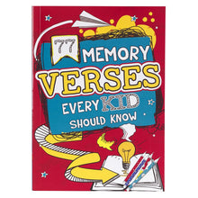 Load image into Gallery viewer, 77 Memory Verses Every Kid Should Know