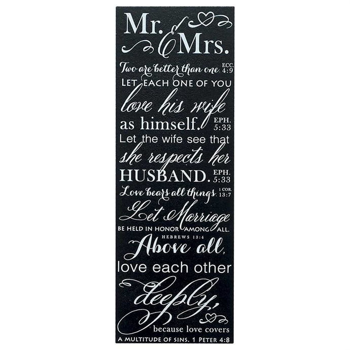 Mr & Mrs Wedding Wall Plaque