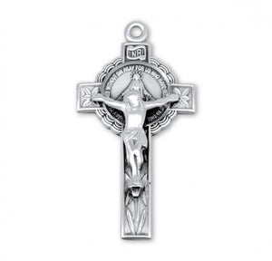 Sterling Silver Miraculous Medal Crucifix