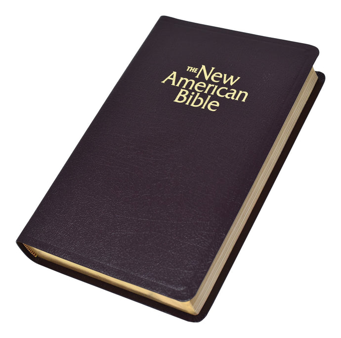 Gift and Award Bible-NABRE-Burgundy Deluxe Leather Bound