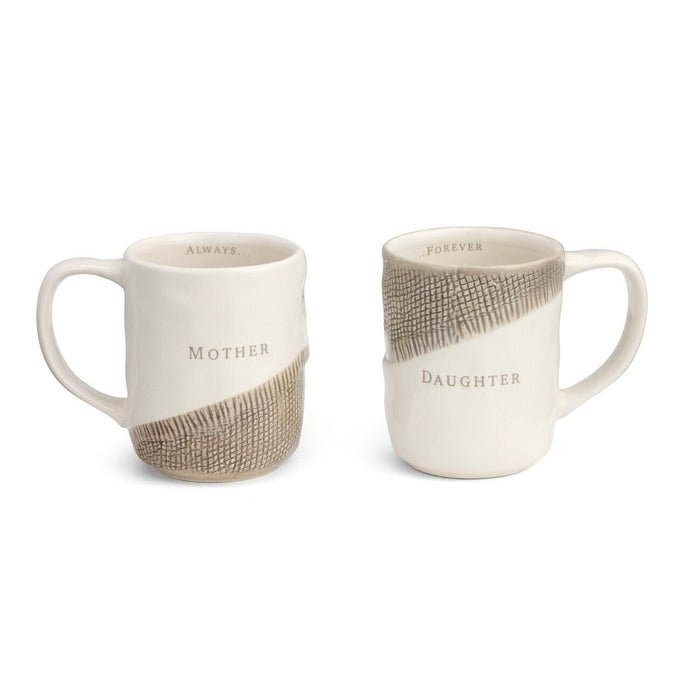 Mother and Daughter Hug Mugs - Set of 2 Assorted