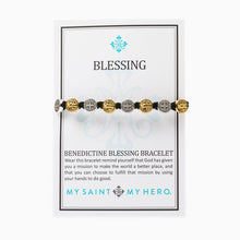 Load image into Gallery viewer, Benedictine Blessing Bracelet - Slate Color w/Mixed Medals