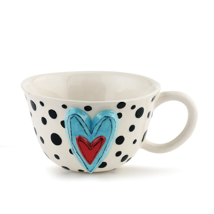 Black Dots Tea Cup