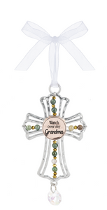 Cross Ornament - Watch over my Grandma