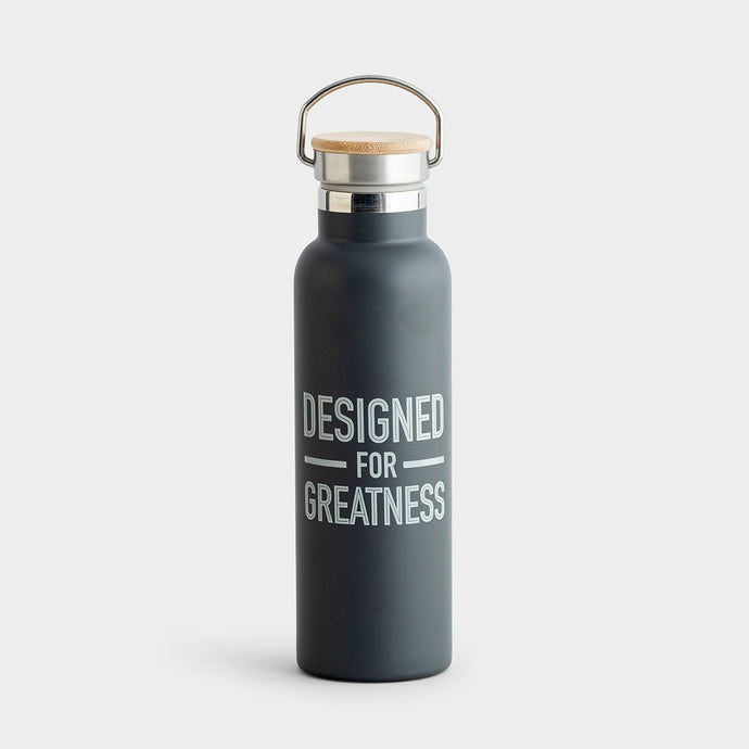 Designed For Greatness - Metal Water Bottle