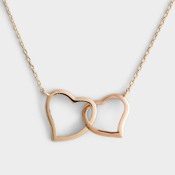 Amazing Mom! - Gold Hearts Necklace