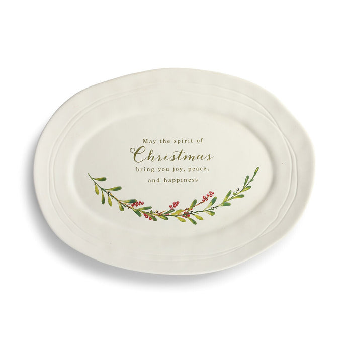 Spirit of Christmas Greenery Platter