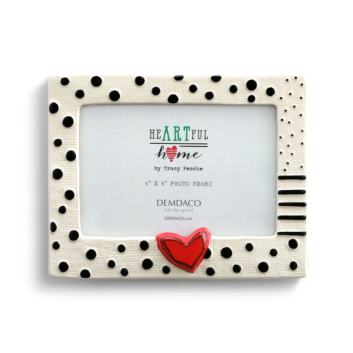 Heart and Dots Frame