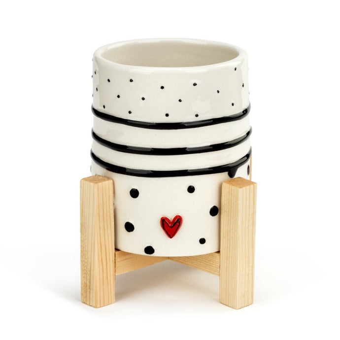 Dots and Stripes Mini Planter