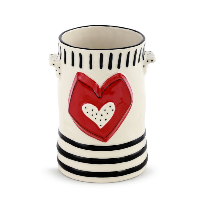 Red Heart Crock