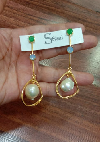 Green Onyx with Aqua Baroque Hanging - Ssoul Eternal You