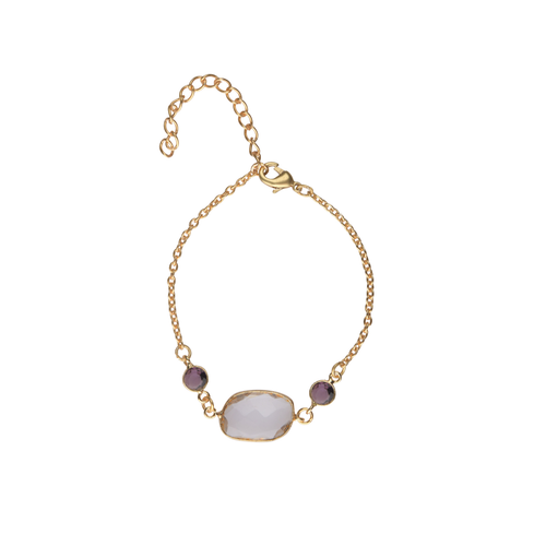 Purple Bracelet with white stone - Ssoul Eternal You