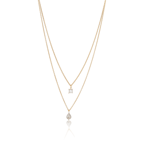 White Layered Necklace - Ssoul Eternal You