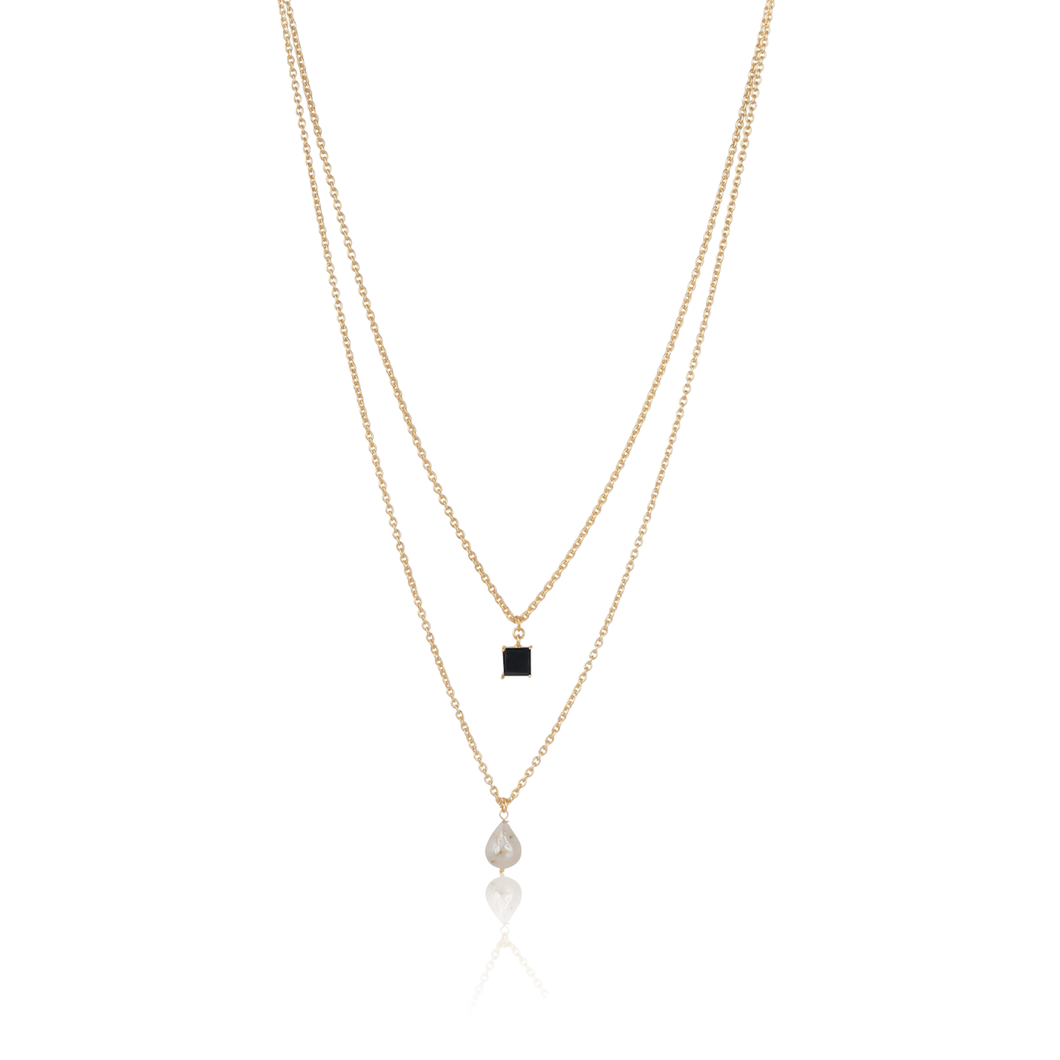 Black Layered Necklace - Ssoul Eternal You