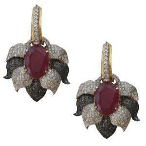 Ruby Black Diamond Earring - Ssoul Eternal You