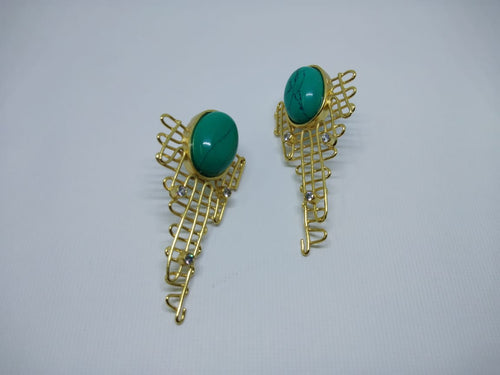 Turquoise Mesh Wire Earring - Ssoul Eternal You