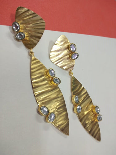 Metal Kundan Earring - Ssoul Eternal You
