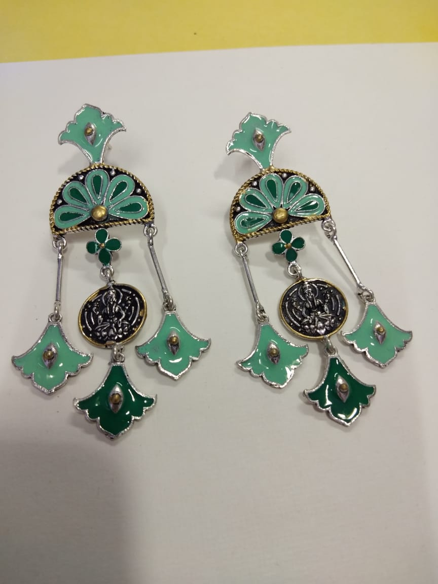 Silver Enamel Earring - Ssoul Eternal You