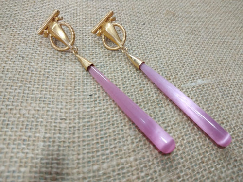 Pencil Stone Earring - Ssoul Eternal You