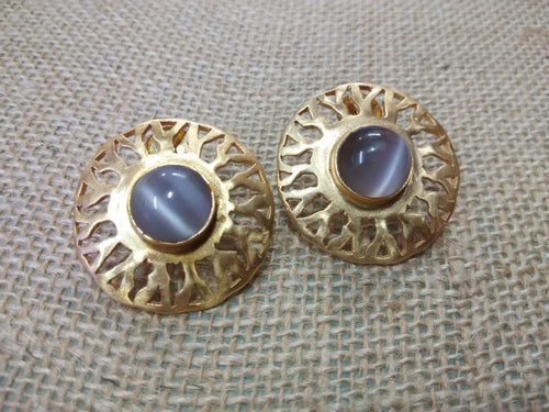 Circle Moonstone Earring - Ssoul Eternal You