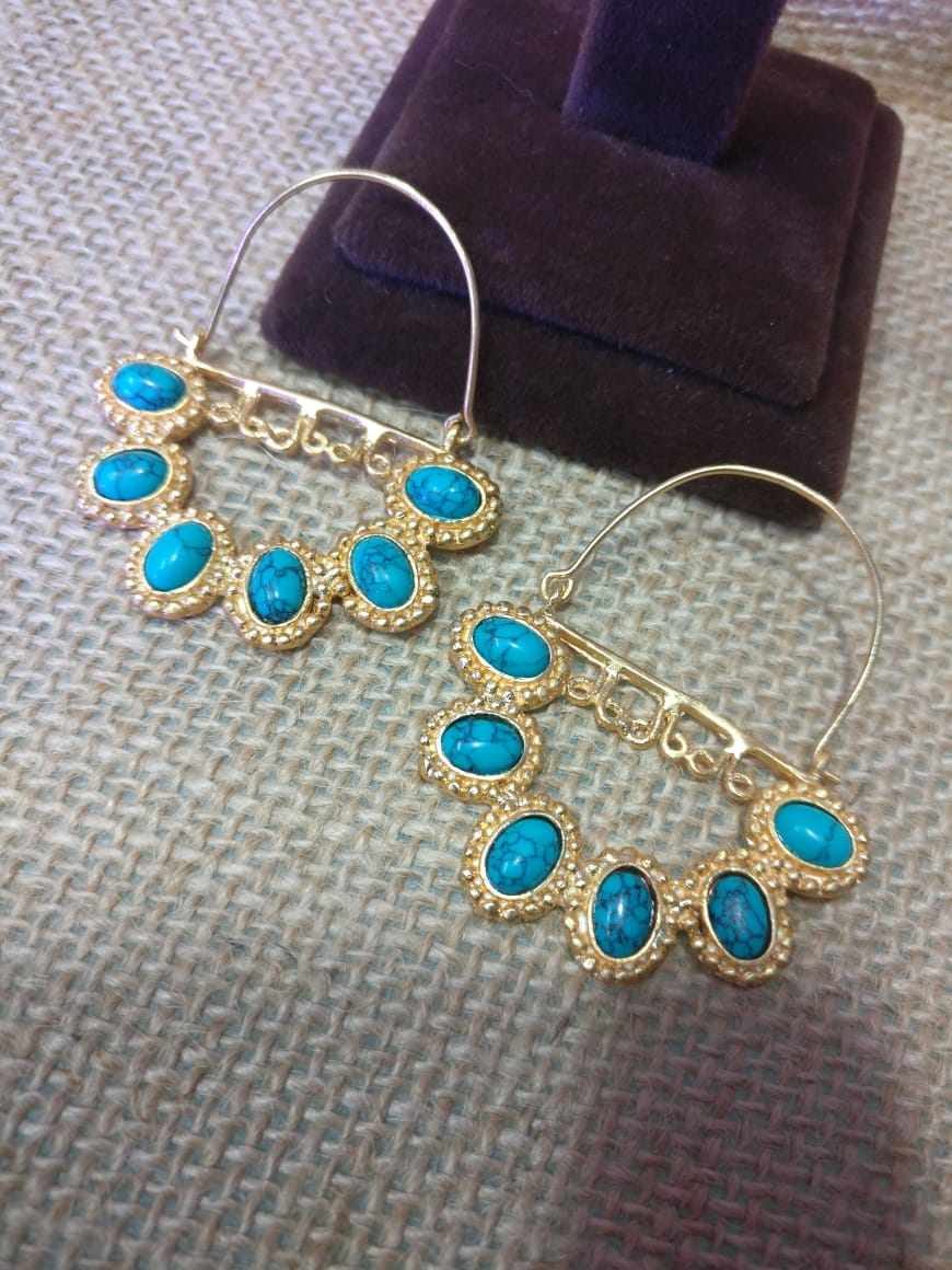 Turquoise Hoops - Ssoul Eternal You