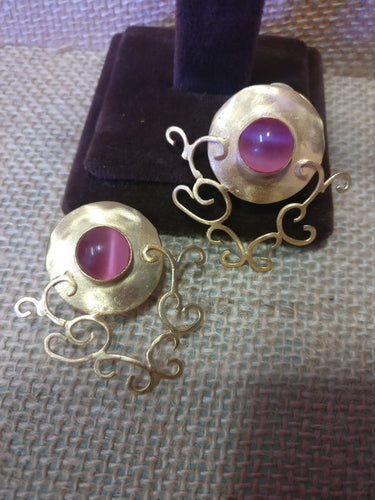 Pink Moonstone Earring - Ssoul Eternal You