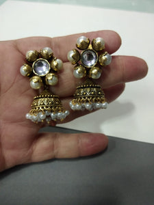 Metal Jhumki Earring - Ssoul Eternal You