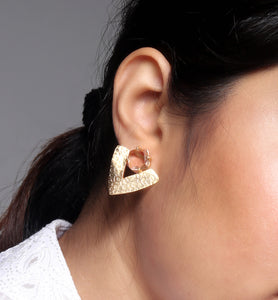 Textured Arrowhead & Stud Earrings - Ssoul Eternal You