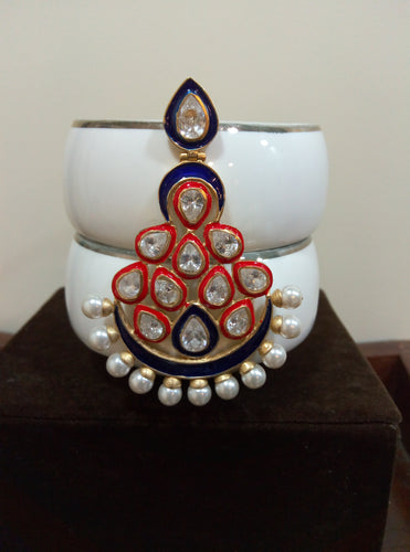 Kundan Enamel Earring - Ssoul Eternal You