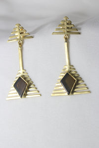 Black Onyx Stripe Earring - Ssoul Eternal You