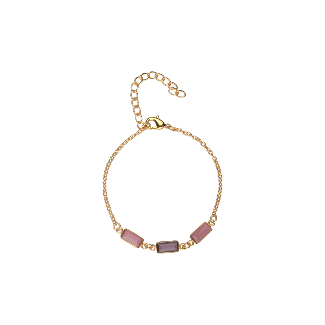 Delicate Stone Bracelet in Pink and Purple - Ssoul Eternal You