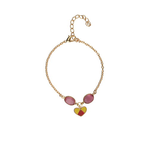 Heart Charm Bracelet in Pink - Ssoul Eternal You