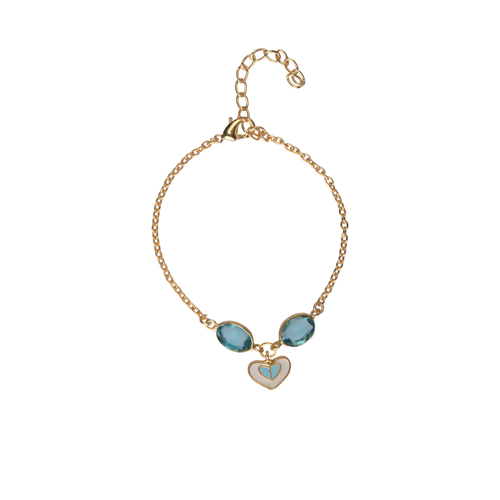 Heart Charm Bracelet in Blue - Ssoul Eternal You