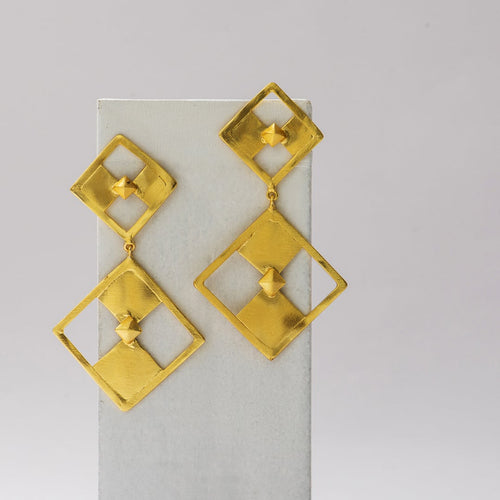 Diamond Square Earrings - Ssoul Eternal You